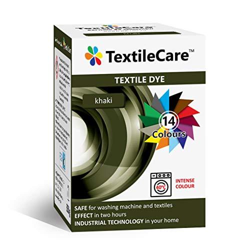TextileCare Tinte para ropa y textil, 350 g de tinte para ropa de 600 g, 14 colores (Khaki)