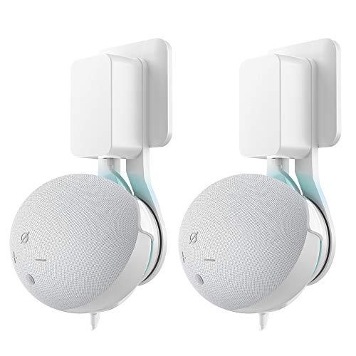 Cozycase Dot (4. Generation) Wandhalterung- Platzsparend Halterung Zubehör, Ideal für Küche, Bad und Schlafzimmer, Keine Schrauben notwendig (2-Packung, Weiß)
