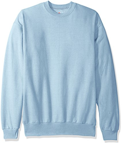Hanes Men's Ecosmart Fleece Sweatshirt, Light Blue, 3XL