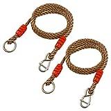 DOITOOL - Juego de 2 cuerdas de nailon para colgar de alta resistencia, para hamaca y columpios de jardín al aire libre