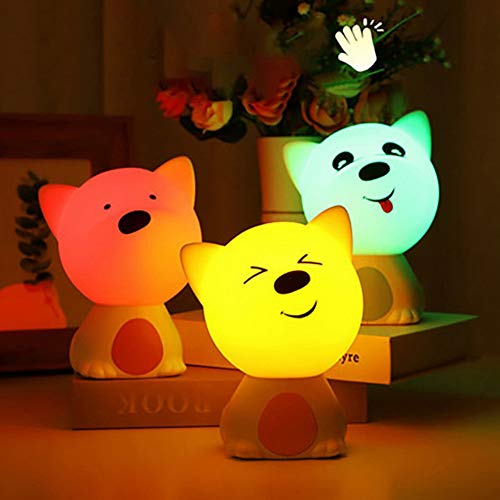 LMCXWD Silicone Pat Light Sensor Carton Kleurrijke Nachtlampje Patting Lamp Nachtlampje Mood Sfeer Lamp