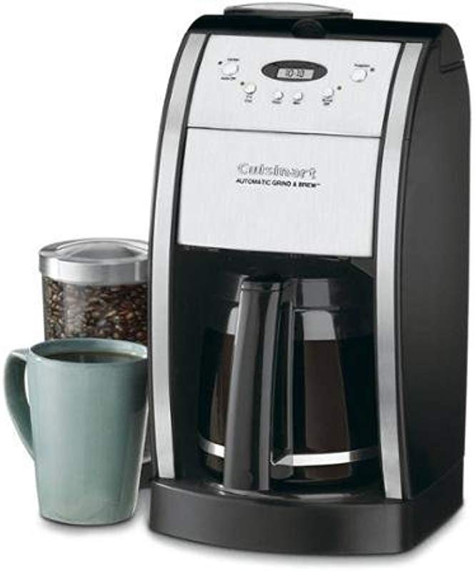 Cuisinart Grind Brew 12 Cup Automatic Coffeemaker Features Built In Grinder 12 Cup Carafe With Ergonomic Handle Dripless Spout And Knuckle Guard With Pause N Brew Option 24 Hour Fully Programmable And Gold Tone Charcoal Filter Included