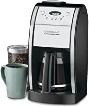 Cuisinart Grind & Brew 12-Cup Automatic Coffeemaker, Features Built In Grinder, 12 Cup Carafe with Ergonomic Handle, Dripless Spout and Knuckle Guard, with Pause N Brew Option, 24 Hour Fully Programmable and Gold Tone/Charcoal Filter Included