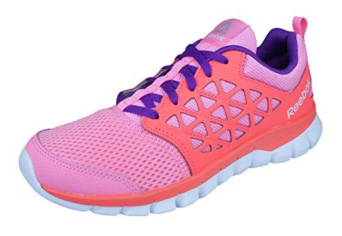 Reebok Sublite Xt Cushion 2.0, Scarpe da Trail Running Donna, Rosa (Peppy Pink/Vitamin con White/Aubergine/SIL), 37 EU