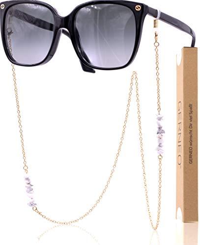 GERNEO® - DAS ORIGINAL - Premium Brillenband & Brillenkette (Gold/Weiß)
