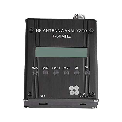 Akozon Analizador de Antena Onda Corta 1-60 MHz MR300 Ensayador RF SWR para Radiocomunicación