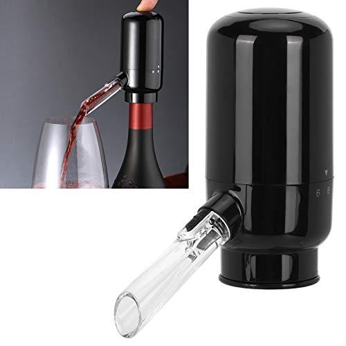 Ein-Knopf-Bedienung Multifunktionaler Weinspender Schwarzweinbelüfter für die meisten Weinflaschen für Abendessen zu Hause, unterwegs - 6
