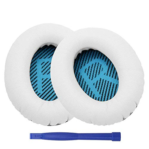 Ear Pads, 1Pair Replacement Headphone Pad for Bose QuietComfort QC2 QC15 QC25 QC35 SoundLink SoundTrue AE2 AE2i AE2w Headphones - (Color: White)