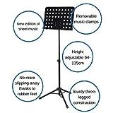 CASCHA Pupitre d orchestre en métal, pupitre à musique, pupitre pour partitions, pliable, réglable en hauteur, noir HH 2068