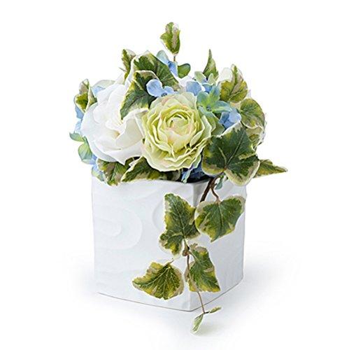 Hervit Decoraz.Floral Ivoire/Vert/Bleu 19 cm