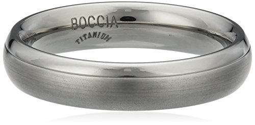 Boccia Damen-Ring teilpoliert Titan GR.63 0130-0763