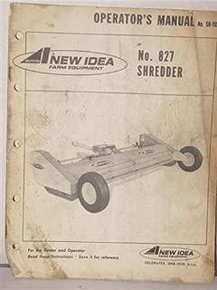 No. 827 Shredder operators manual by Avco New Idea farm Equipment