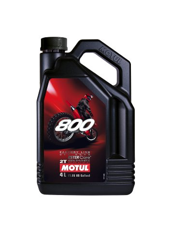 Motul 800 2T Factory Line 100% Synthetic Off Road 2-Stroke Engine Oil 4L (104039)
