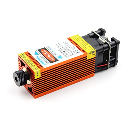 Oxlasers 4W Blue Laser Module CNC Laser Head for DIY Engraving12V 4000mW focusable with PWM control for 3018 3018pro(Orange Heat Sink)