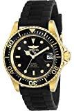 Invicta Men's Pro Diver 40mm Gold Tone Stainless Steel and Silicone Automatic Watch, Black (Model: 23681)