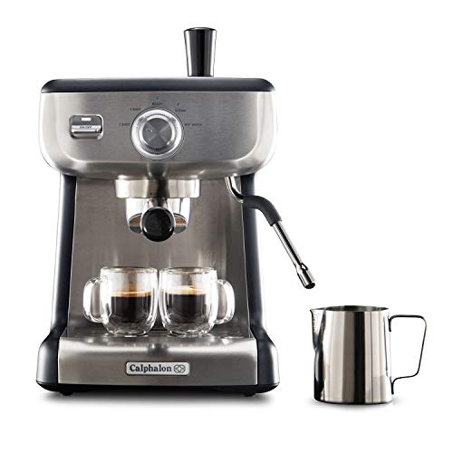 Calphalon BVCLECMP1 Temp iQ Espresso Machine with Steam Wand, Stainless...