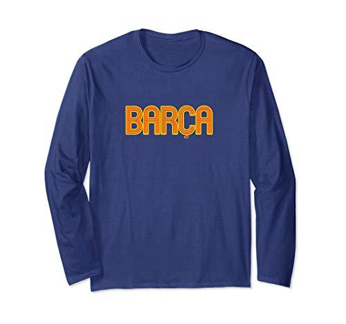 Barcelona Soccer Spain Barca Futbol Fan Jersey Style Long Sleeve T-Shirt