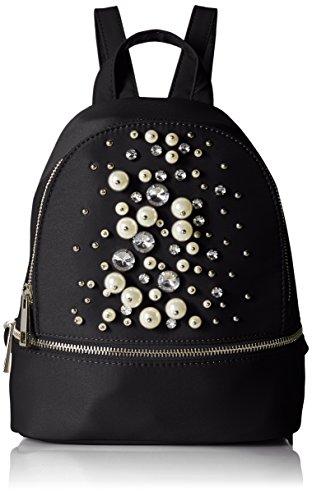 ALDO Damen Umhänge-Handtasche, black satin, Einheitsgröße