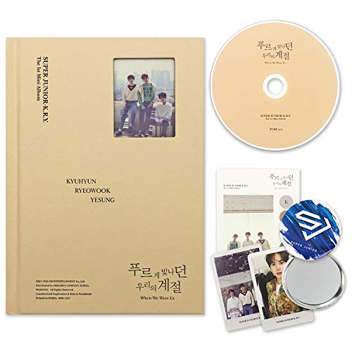 SUPER JUNIOR - K.R.Y 1st Mini Album - When We Were Us [ PURE ver. ] CD + Photobook + Sticker + Photocards + FREE GIFT / K-POP Sealed