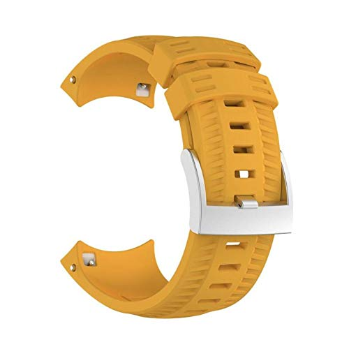 Fanuse Sport Silikon Ersatz Armband Band Strap für SUUNTO 9 / Baro Intelligente Uhr -Gelb