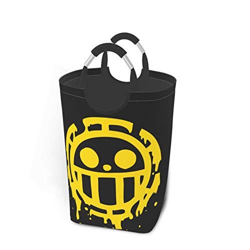 Anime One Piece Sign Monkey D. Luffy - Cesta de ropa plegable para ropa, tela Oxford portátil, gran bolsa de lavandería con asa