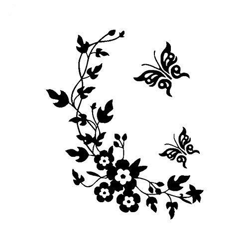 Kuizhiren1 Pegatinas de pared para la cocina, decoración del hogar, diseño de flores de mariposa, papel pintado extraíble,...