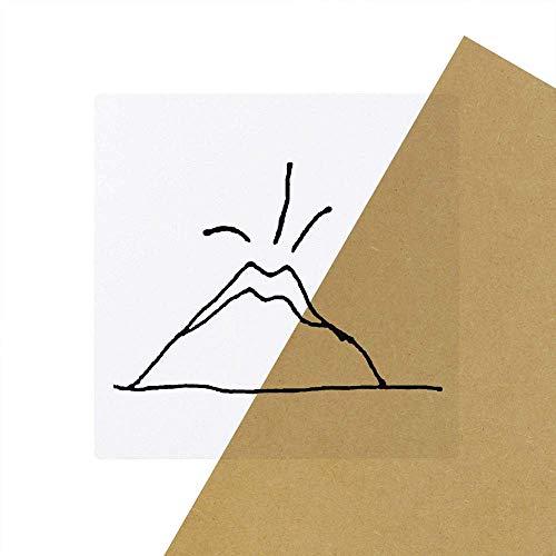 Azeeda 6 x 'Erupting Volcano' Clear Stickers (SK00040637)