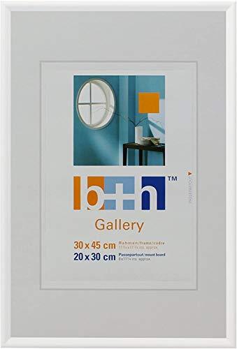 Bilderrahmen 30 x 45 Weiss Puzzlerahmen Echt-Glas Portrait Foto-Rahmen hoch quer
