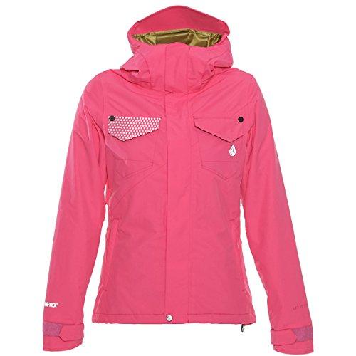 Volcom Juniors Decca Gore-Tex 2L INS Snow Jacket, Pink, Medium