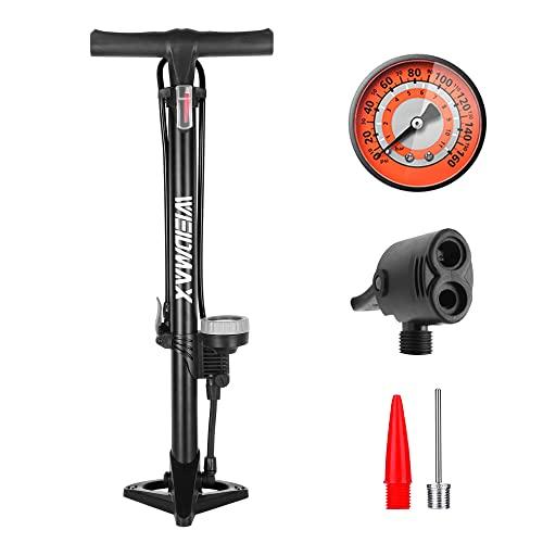 WEIDMAX Bomba para Bicicleta, Bomba ergonómica para Piso de Bicicleta Bomba de inflado de neumáticos para Bicicleta...