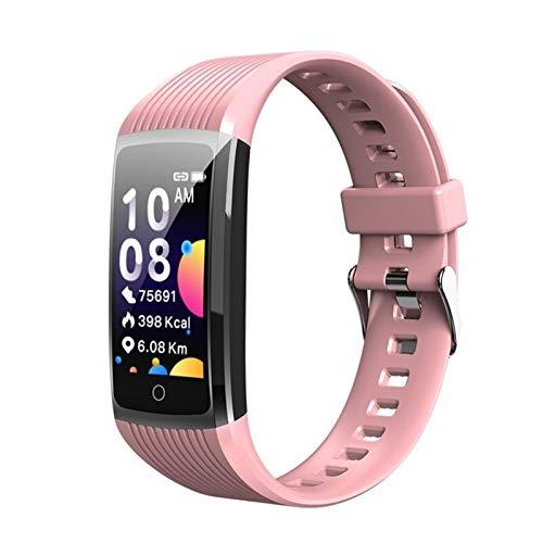 XXY Pulsera De Salud Smart Band Men Fitness Tracker Actividad SmartWatch Monitor En Tiempo Real 5 En 1 Pedómetro Deportivo Pulsera Mujer Hombre (Color : Pink)