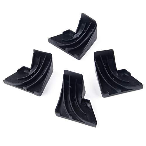 LETAOSK 2 Paar schwarze Kieselgel-Türblende für GE Geschirrspüler WD8X228 WD8X227