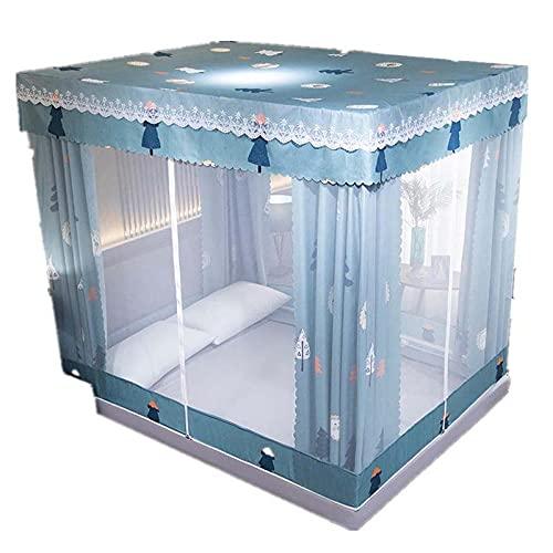 Princesa de Lujo Mosquito Net Tablero de Cama Cortina de Malla Mosca Mosca Protección de Insectos para niñas Princesa Dormitorio Decoración para el hogar Regalos-A_180x200cm