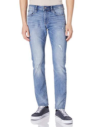 TOM TAILOR Denim 1026642 Piers Slim Jeans, 10117-Juego de Mesa (Tela Vaquera usada), Color Azul, 36W x 36L para Hombre