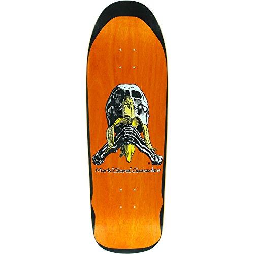 Blind Rollo Gonz Skull/Banana Abgeschirmtes dk-9.8X 32,1Orange Nur Deck (mit Gratis 2,5cm Hardware, Set)
