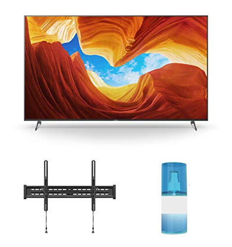 Sony XBR-65X900H 65' 4K Ultra High Definition HDR LED Smart TV with a Walts TV Large/Extra Large Tilt Mount for 43'-90' Compatible TV's and a Walts HDTV Screen Cleaner Kit (2020)