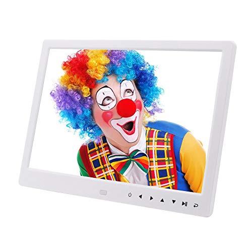 Marcos Digitales Marco digital de 12 pulgadas 1280 * 800 píxeles Alta resolución Alta resolución Pantalla LED Temporizador de encendido / apagado automático Control remoto incluido Blanco El Mejor Reg