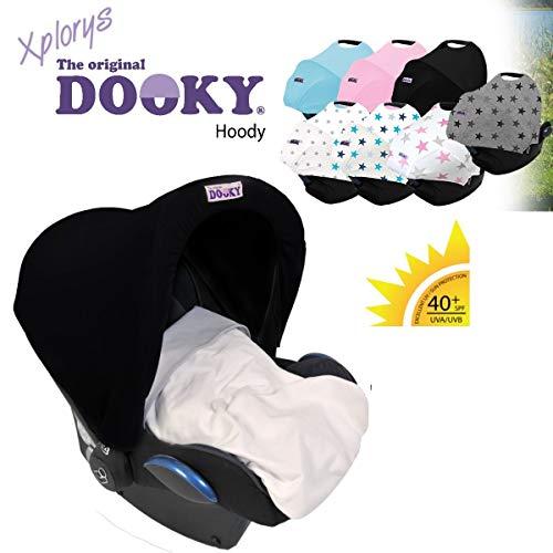 Original DOOKY ** Style UV 40 ** Universal Sonnenschutz//Sonnensegel//Sonnenblende para cochecitos y Babyschale gris Grey Stars