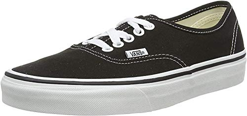 Vans Authentic Classic, Unisex Adult Low Top Lace-up Trainers, Black (Black/White), 9,5/42,5