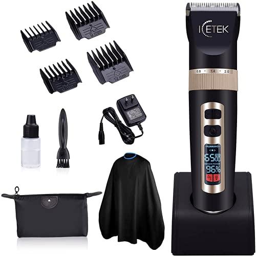 ICETEK Hair Clippers Beard Trimmer for Men,...