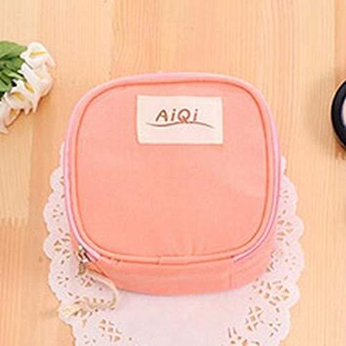Hmg Aiqi Multi-Funcional Wet Bolsa Reutilizable Menstrual Pad Toallas sanitarias Maquillaje Bolsas de Maquillaje Organizador Bolsa de Herramientas (Rosa) (Color : Pink)