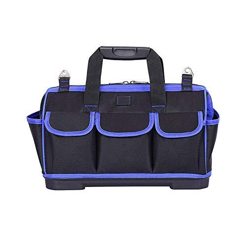 Qilo Bolsa Herramientas Multipropósito Inicio Bolsa de herramientas Reparación, caja de herramientas portátil del hogar con bolsa de herramientas de gran abertura de la boca, conveniente for el bricol