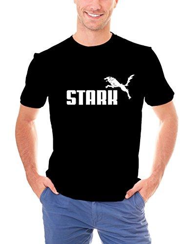 Kasei's - Camiseta Lobo Huargo Stark (Juego de Tronos), Talla M, Color Negro