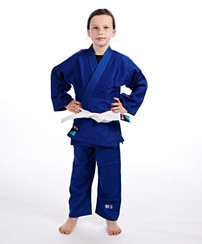 Ippon Gear Kinder Future Kampfsportanzug Judo Inkl. Gürtel (5 Bis 10 Jahre), blau, 110 cm