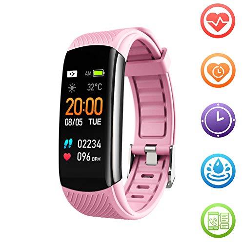 Fitness Tracker HR Smart Band Activity Tracker Waterdicht Gezondheid Oefenhorloge met hartslagmeter Bloeddrukmeter Stappenteller Slaapmonitor Slimme armband voor mannen Vrouwen Kinderen,Pink