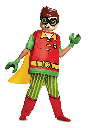 Disguise - Costume da Batman Robin Deluxe, Taglia M, età 7-8 Anni