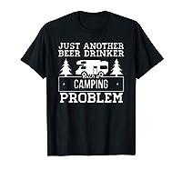 Vêtements de camping amusants, juste un autre buveur de bière avec un problème de camping Léger, Coupe classique, manche à double couture et ourlet à la base
