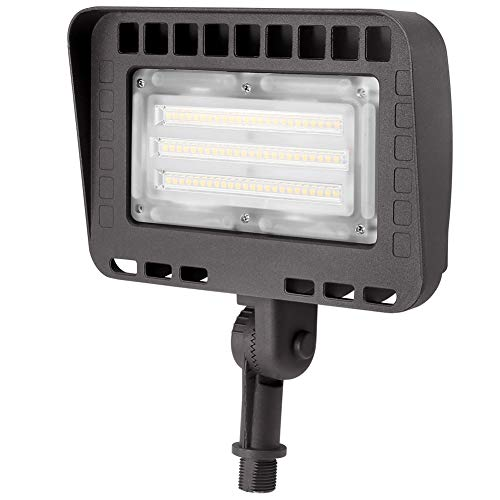 Lightdot Knuckle Mounting Outdoor LED Flood Security Light (70W Eqv 300w) 5000K Adjustable Angle Required for Illuminating Flagpole/Tree/Yards/Advertising Boards