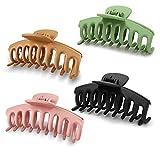 Ealicere 4 Stück Kunststoff Haar Klaue Clips Damen Haare Klaue Klammern, für Damen Ohne Rutschen...
