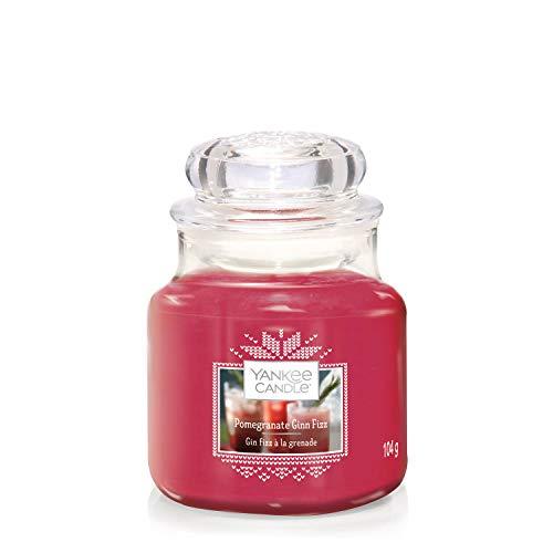 Yankee Candle Duftkerze im Glas (klein), Pomegranate Gin Fizz, Alpine Christmas Collection, Brenndauer bis zu 30Stunden